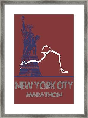 New York City Marathon Framed Print by Joe Hamilton