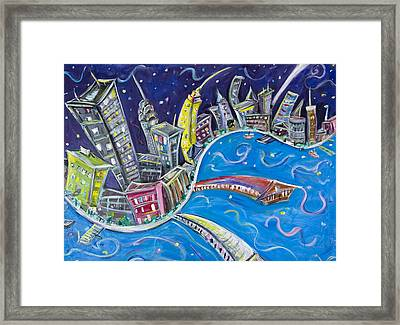 New York City Nights Framed Print by Jason Gluskin