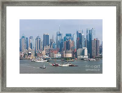 New York City Parade Of Sail I Framed Print by Clarence Holmes