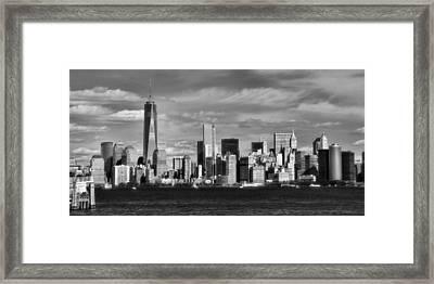 New York City Skyline Black And White Framed Print by Dan Sproul