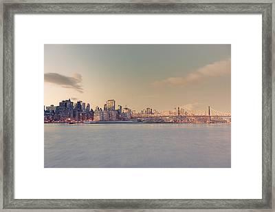 New York City - Skyline Dreamscape Framed Print by Vivienne Gucwa