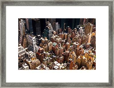 New York City Skyline From Above Framed Print by Vivienne Gucwa