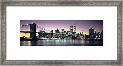New York City Skyline Framed Print by Jon Neidert