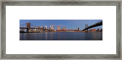 New York City Skyline Panorama Framed Print by Juergen Roth