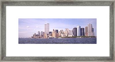New York City Skyline Panoramic Framed Print by Mike McGlothlen