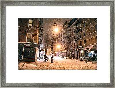 New York City - Snow - Lower East Side Framed Print by Vivienne Gucwa