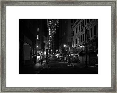 New York City Street - Night Framed Print by Vivienne Gucwa