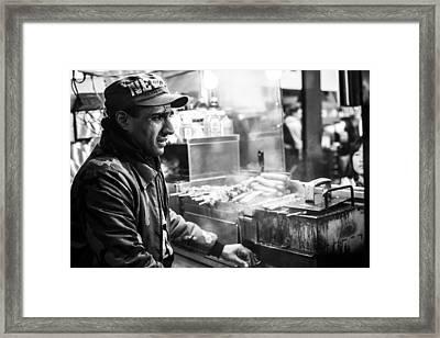 New York City Street Vendor 2 Framed Print by David Morefield