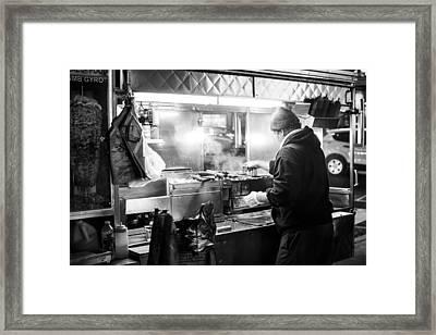 New York City Street Vendor Framed Print by David Morefield