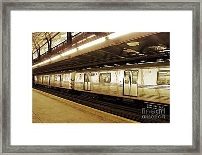 New York City Subway 2 Framed Print by Sarah Loft
