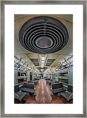 New York City Subway Train Framed Print by Susan Candelario
