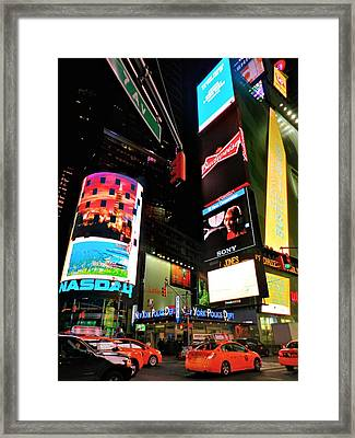 New York City - Times Square 004 Framed Print by Lance Vaughn