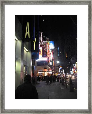 New York City - Times Square - 121217 Framed Print by DC Photographer