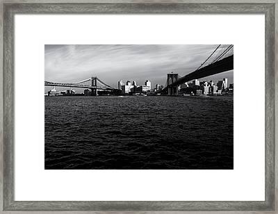 New York City - Two Bridges Framed Print by Vivienne Gucwa