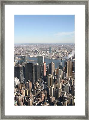 New York City - View From Empire State Building - 121218 Framed Print by DC Photographer