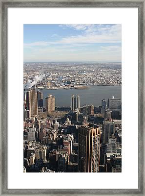 New York City - View From Empire State Building - 121219 Framed Print by DC Photographer
