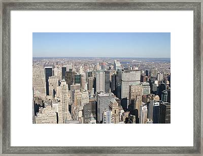 New York City - View From Empire State Building - 12127 Framed Print by DC Photographer
