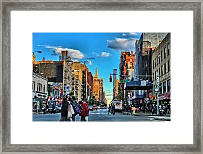 New York City Walk Framed Print by Dan Sproul