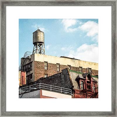 New York City Water Tower 2 Framed Print by Gary Heller