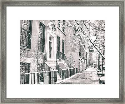 New York City - Winter Afternoon Framed Print by Vivienne Gucwa