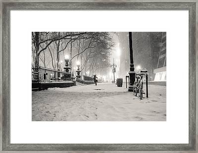 New York City Winter Night Framed Print by Vivienne Gucwa