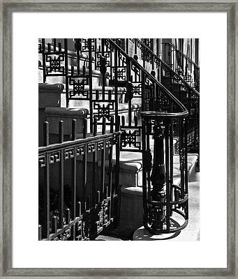 New York City Wrought Iron Framed Print by Rona Black