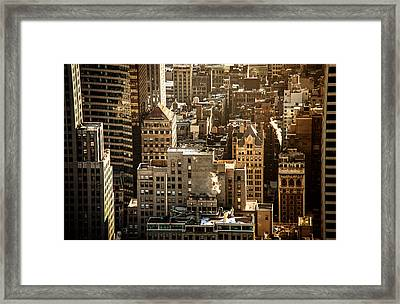 New York Cityscape Framed Print by Vivienne Gucwa