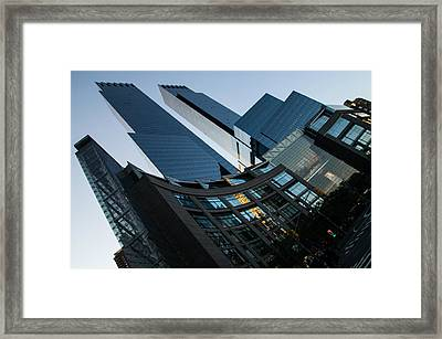 New York Curves And Skyscrapers Framed Print by Georgia Mizuleva
