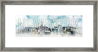 New York Digital-art No.1 Framed Print by Melanie Viola