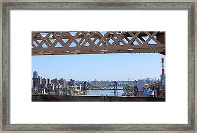 New York From New York Window Framed Print by Suzanne Perry
