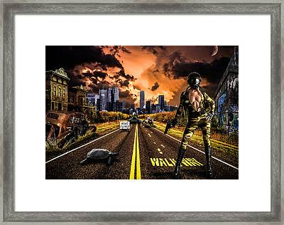 New York Future Girl Framed Print by Ian Hufton