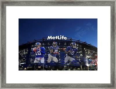 New York Giants Metlife Stadium Framed Print by Joe Hamilton