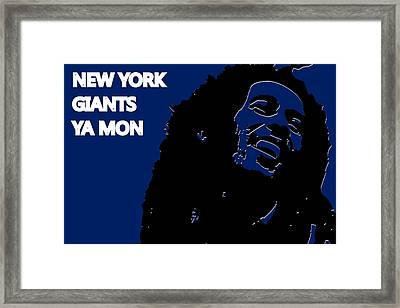 New York Giants Ya Mon Framed Print by Joe Hamilton
