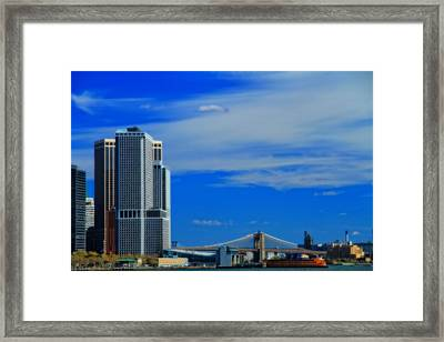 New York Harbor View Framed Print by Dan Sproul