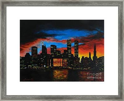 New York In The Glory Days Framed Print by Alexandru Rusu