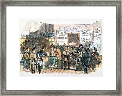 New York: Irish Ballots Framed Print by Granger