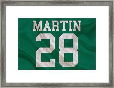 New York Jets Curtis Martin Framed Print by Joe Hamilton