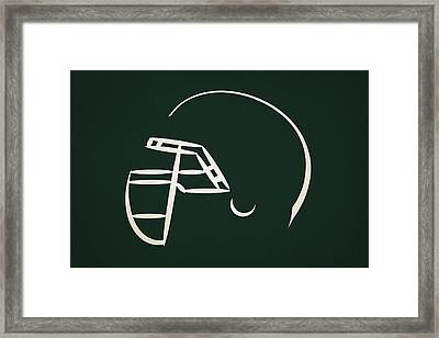 New York Jets Helmet Framed Print by Joe Hamilton