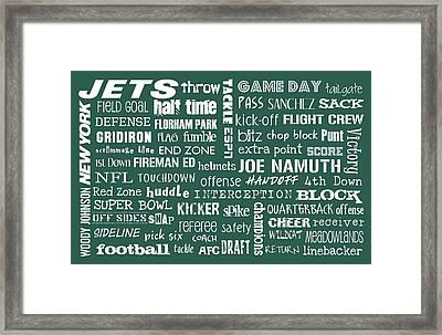 New York Jets Framed Print by Jaime Friedman