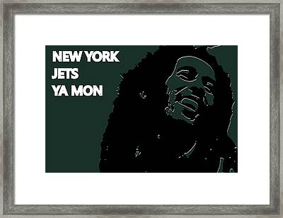 New York Jets Ya Mon Framed Print by Joe Hamilton