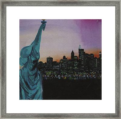 New York  Framed Print by Jodie Welsh