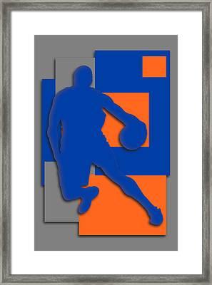 New York Knicks Art Framed Print by Joe Hamilton