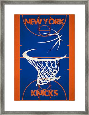 New York Knicks Court Framed Print by Joe Hamilton