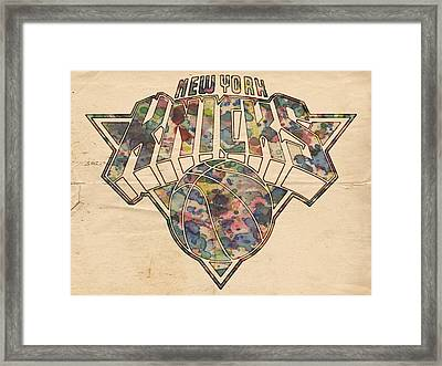 New York Knicks Poster Art Framed Print by Florian Rodarte