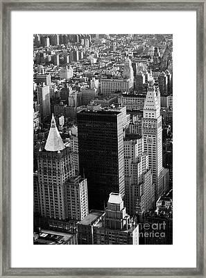 New York Life Insurance Co Building Belvedere Building And Metropolitan Life Insurance Corp Building Framed Print by Joe Fox