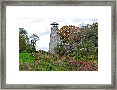 New York Lighthouse Framed Print by Frozen in Time Fine Art Photography