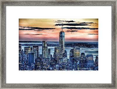 New York - Manhattan Landscape Framed Print by Marianna Mills