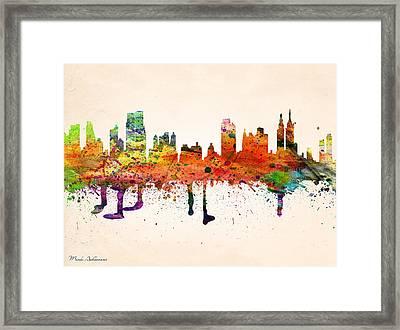 new York  Framed Print by Mark Ashkenazi