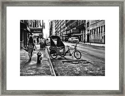 New York Park South  Framed Print by Paul Ward