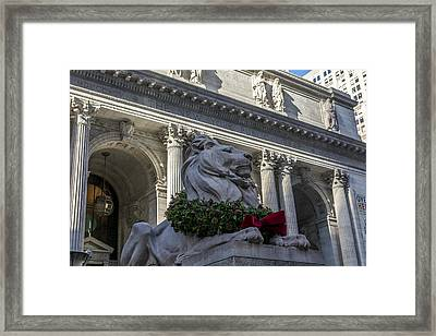 New York Public Library Framed Print by David Morefield